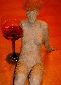 Skulptur, Rotwein, Weinwerbung, Plastik