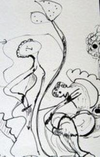Tuschmalerei, Malerei, Zeichnung, Freie