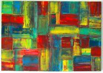 Malerei, Gelb, Abstrakt, Acrylmalerei