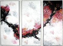 Kupfer, Abstrakt, Mehrteilig, Acrylmalerei