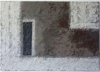 Weiß, Geometrie, Acrylmalerei, Anthrazit