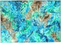 Grün, Perlmutt, Blau, Braun