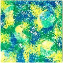 Grün, Modern, Blau, Gelb