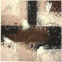 Sand, Geometrisch, Acrylmalerei, Struktur