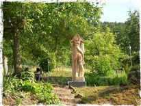 Holzskulptur, Kettensäge, Engel, Kunsthandwerk