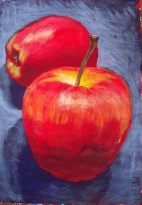 Apfel, Früchte, Acrylmalerei, Obst