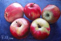 Obst, Apfel, Malerei, Stillleben