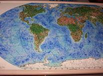 Relief, Landkarte, Dekoration, Welt