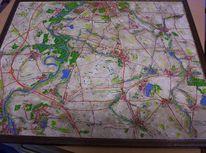 Landkarte, Plastik, Deutschland, Relief
