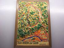 Landschaft, Relief, Malerei, 3d