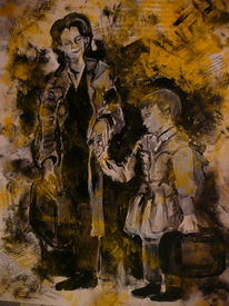 Malerei, Menschen, Kind