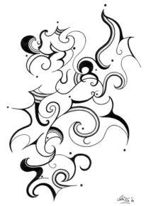 Bleistiftzeichnung, Linie, Zeichnungen, Abstrakt