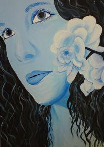 Acrylportrait, Portrait, Acrylmalerei, Malerei