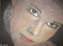 Portrait, Pastellmalerei, Zeichnungen
