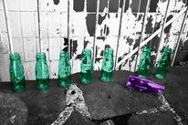 Grün, Rosa, Flasche, Fotografie