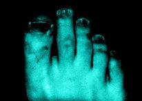 Blau, Fuß, Fotografie, Digitale kunst