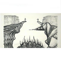 Abstrakt, Malen, Malerei, Destruktivität