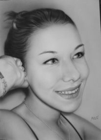 Portrait, Airbrush, Grafik
