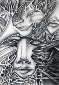 Surreal, Lippen, Gesicht, Zeichnungen