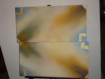 Acrylmalerei, Gold, Malerei, Abstrakt