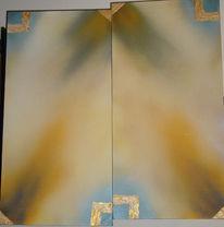 Gold, Kleister, Acrylmalerei, Malerei