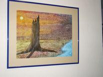 Wasser, Wüste, Acrylmalerei, Malerei