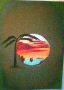 Fantasie, Küste, Licht, Insel