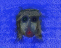 Gesicht, Blau, Maske, Abend