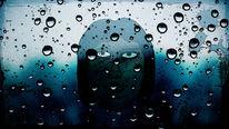 Regen, Stehen, Tropfen, Gesicht