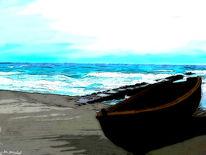 Boot, Brandung, Wasser, Welle