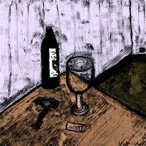 Weinglas, Wienfalsche, Gemütlichkeit, Tisch
