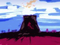 Seelenschmerz, Himmel, Lava, Vulkan