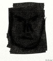 Selbsterkenntnis, Gesicht, Angst, Malerei