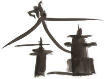 Tempel, Steinlaterne, Japanisch, Pinsel