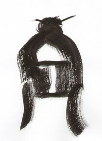 Japanisch, Pinsel, Zeichnung, Japan