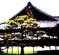 Japanisch, Zen, Garten, Buddhismus