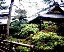 Japanischer garten, Japanisch, Posterisation, Garten