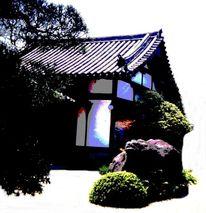 Architektur, Gartengestaltung, Dach, Japanisch