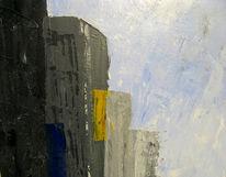 Hamburg, Malerei, Abstrakt, Skyline
