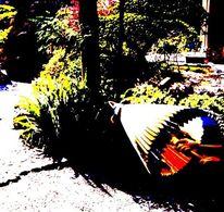 Regenschirm, Garten, Japanisch, Schirm