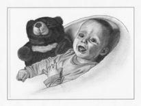 Bleistiftzeichnung, Portrait, Kinder, Zeichnungen