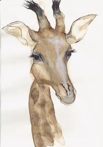 Tiere, Aquarellmalerei, Portrait, Malerei