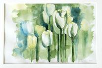 Aquarell, Tulpen