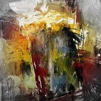 Malerei, Abstrakt, Sundown,