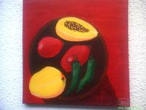 Früchte, Grün, Gelb, Rot