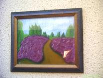 Aquarellmalerei, Heide landschaft, Malerei
