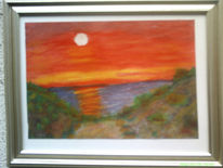 Aquarell gemälde, Sonne meer strand, Landschaft, Malerei
