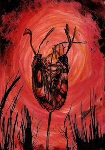 Insekten, Glühwürmchen, Käfer, Malerei