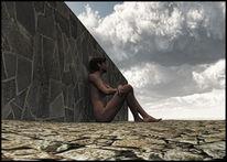 Sehnsucht, Mauer, Traum, Wolken