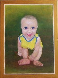 Kinder, Ölmalerei, Figural, Menschen